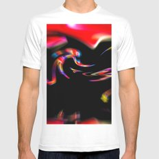 Abstract Perfection 39 MEDIUM Mens Fitted Tee White