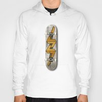 escher Hoodies featuring Escher Bolt Skate Deck  by Vin Zzep