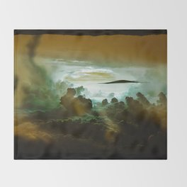 I Want To Believe - Gold Throw Blanket