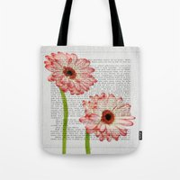 writing Tote Bags featuring Old Writing by Susann Mielke