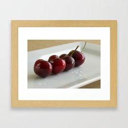 Row of Cherries Framed Art Print
