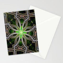 Stain glass Star window* Stationery Cards