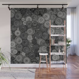 Heavy iron / 3D render of hundreds of heavy weight plates Wall Mural