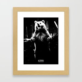 BJÖRN // BEAR Framed Art Print