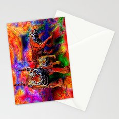 Psychedelic Tigers Stationery Cards