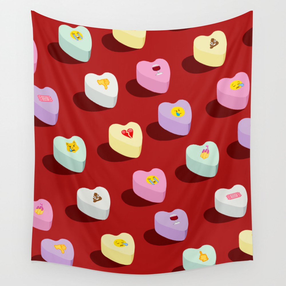 I Hate Valentine's Day Wall Tapestry by Miapisano TPS7172120