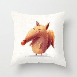 Monday fox Throw Pillow