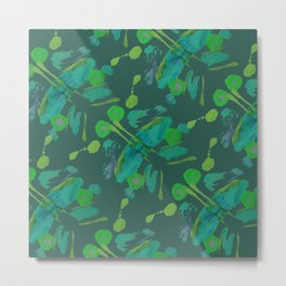 Multi B Green Metal Print