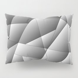 Exclusive light monochrome pattern of chaotic black and white geometric shapes. Pillow Sham