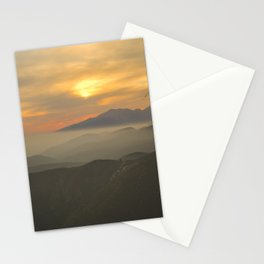 Sunset Over Mountains Stationery Cards