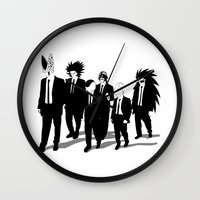 reservoir dogs Wall Clocks featuring Reservoir Enemies by ddjvigo