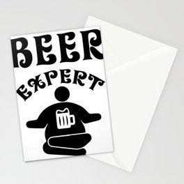 beer expert - I love beer Stationery Cards
