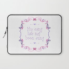 My song has not been sung (white) Laptop Sleeve