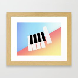 Piano Roll Framed Art Print