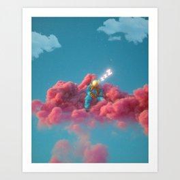 SleepyCloud Art Print