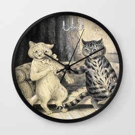 Cats On A Couch - Louis Wain Cats Wall Clock