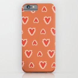valentine pattern iPhone Case