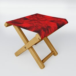 Fire Behind Glass (Red series #11) Folding Stool