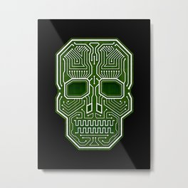 Skull Hacker (isolated version) Metal Print