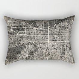 Tempe map Arizona Ink lines Rectangular Pillow