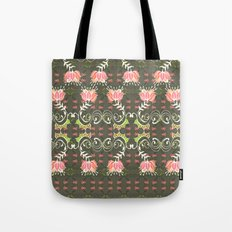 Lotus and some other squiggly lines  Tote Bag