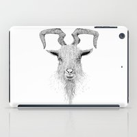 goat iPad Cases featuring Goat by Black Bear / White Bear