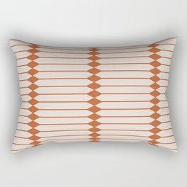 Minimal Geometric Pattern - Coral Rectangular Pillow
