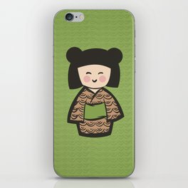Geisha Dress Code (green) iPhone Skin
