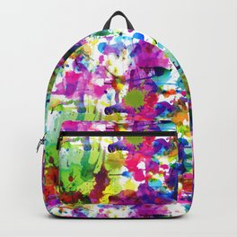 Brightly Colored Paint Splatters Backpack