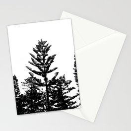 Black and white trees Stationery Cards