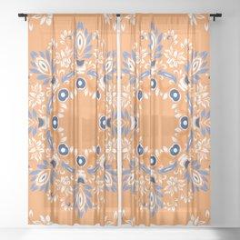 Windsor Shabby Orange  Sheer Curtain