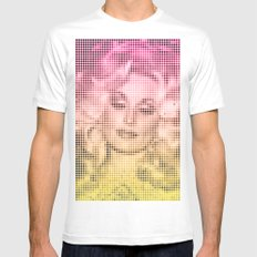 Dolly Dots MEDIUM White Mens Fitted Tee