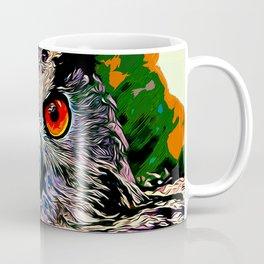 owl strix bird v2 vector art Coffee Mug