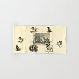 PUG DOGS Illustration Hand & Bath Towel