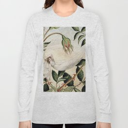 """A Fairy Resting in a Hammock"" by Amelia Jane Murray Long Sleeve T-shirt"