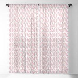 Coral XOXO Sheer Curtain