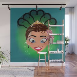 Tuti-Lady Flamenquerías/Character & Art Toy (Open eyes) Wall Mural