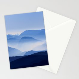 Periwinkle Landscape Mountains Parallax Stationery Cards