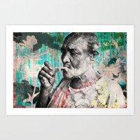 Con el pucho de la Vida Art Print