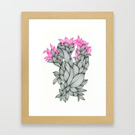 Black and Pink Framed Art Print