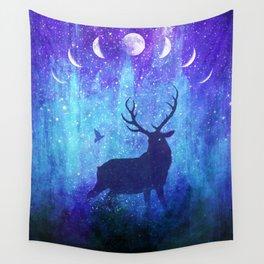 Moon Phase Deer // Phantom of Peaceful Nights Wall Tapestry