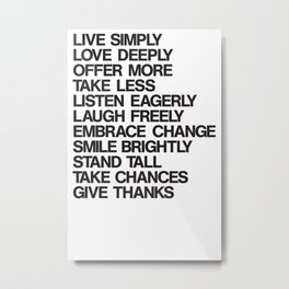 For a better life Metal Print