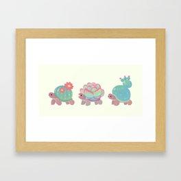 Cactus tortoise Framed Art Print