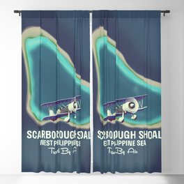 Scarborough Shoal map poster. Blackout Curtain