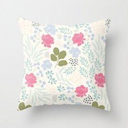 Ella Floral Pattern Throw Pillow