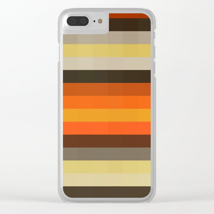 Texture Line 43 Clear iPhone Case