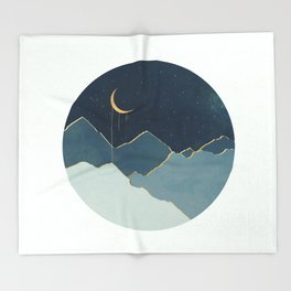 Golden Moon Throw Blanket