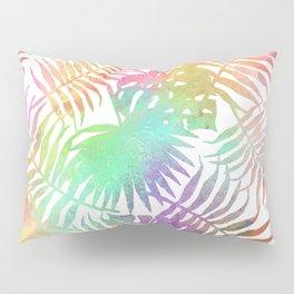 Watercolor Palm Leaves Pillow Sham