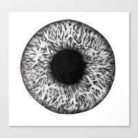 iris Canvas Prints featuring Iris by ECMazur