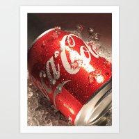 coca cola Art Prints featuring Coca Cola by MarianaManina